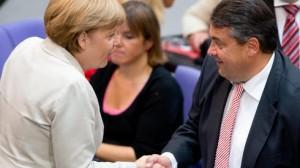 Merkel und Gabriel