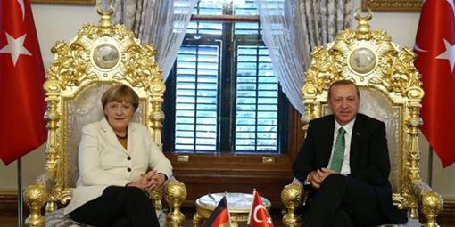 merkel erdoğan taht